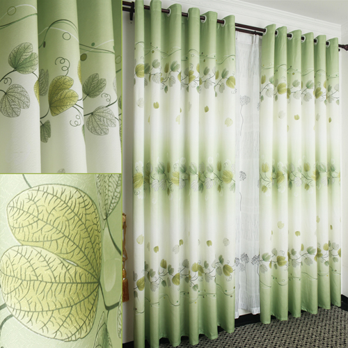 Pastoral warm living room bedroom study semi shade curtain cloth are finished bag mail / curtain 2.7 meters high