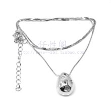 LvKong droplets ball S925 pure silver 0.6 mm box chain of chain Lovely and sweet silversmiths