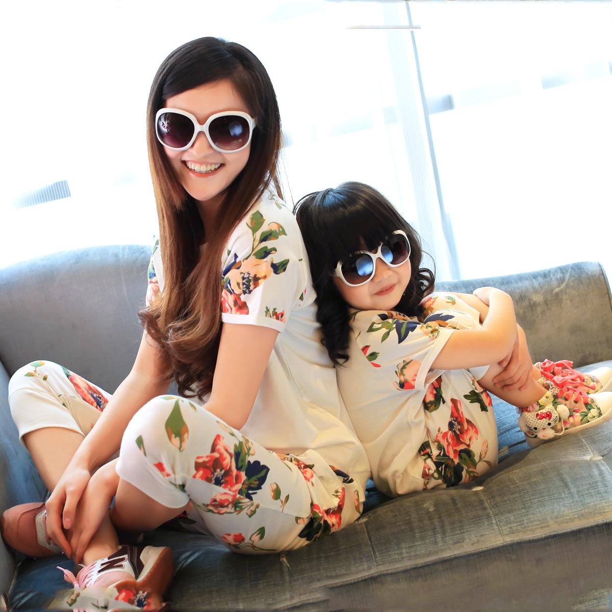 Parent-child 2014 New summer short sleeve T shirt Family Kids  Taobao Agents