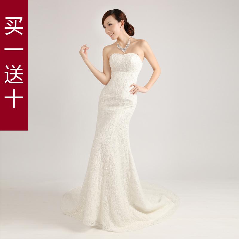 Свадебное платье Qi Ni HS/8020 2012 Осень 2011 Кружево Русалочий хвост Элегантный стиль