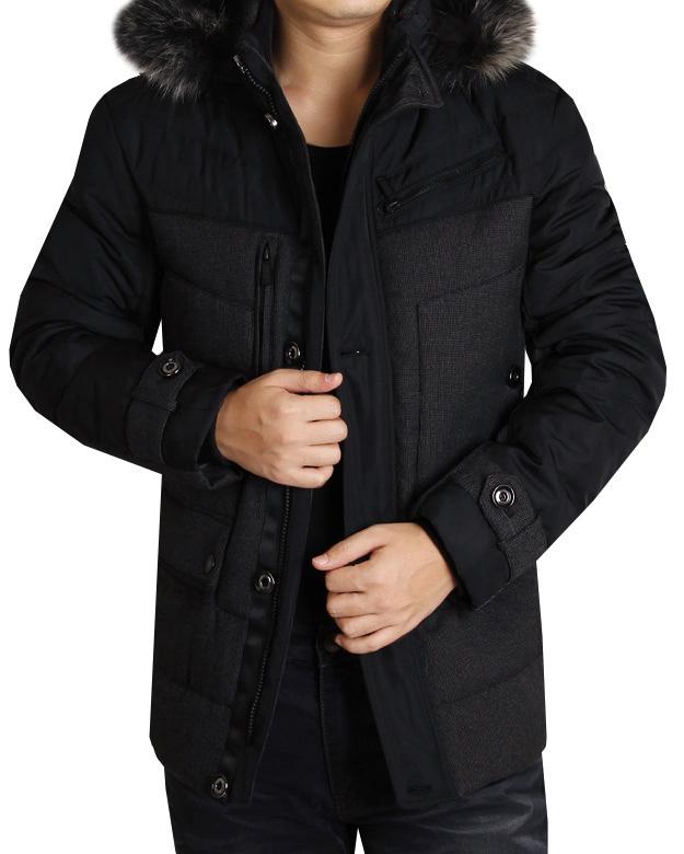 2012新冬款男装步森羽绒服专柜正品男士高档可脱卸帽羽绒服图片