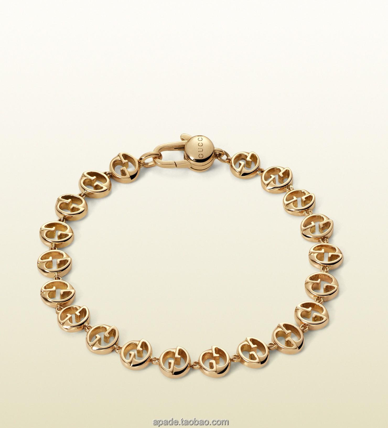 代购Gucci古奇新款女款/gucci 1973 黄金手链 325828 J8500 8000