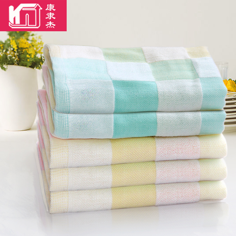 三条装婴儿纱布小方巾男款纯棉小毛巾婴儿口水巾幼儿园全棉童巾