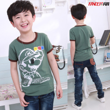 2 Kids Boys short-sleeved t-shirt cotton summer 2013 new children's T-shirts for men and children