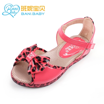 Shoes sandals 2014 Korean version of the new girls in the princess sandals leopard shoes tide shoes