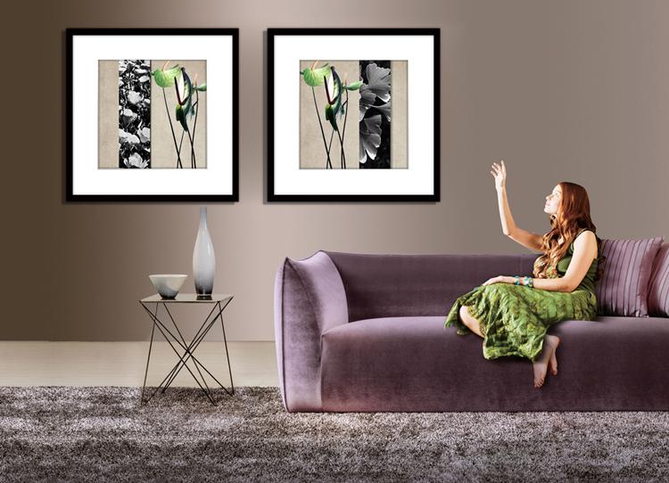 美克美家装饰画客厅现代有框画欧式卧室餐厅挂画壁画图片