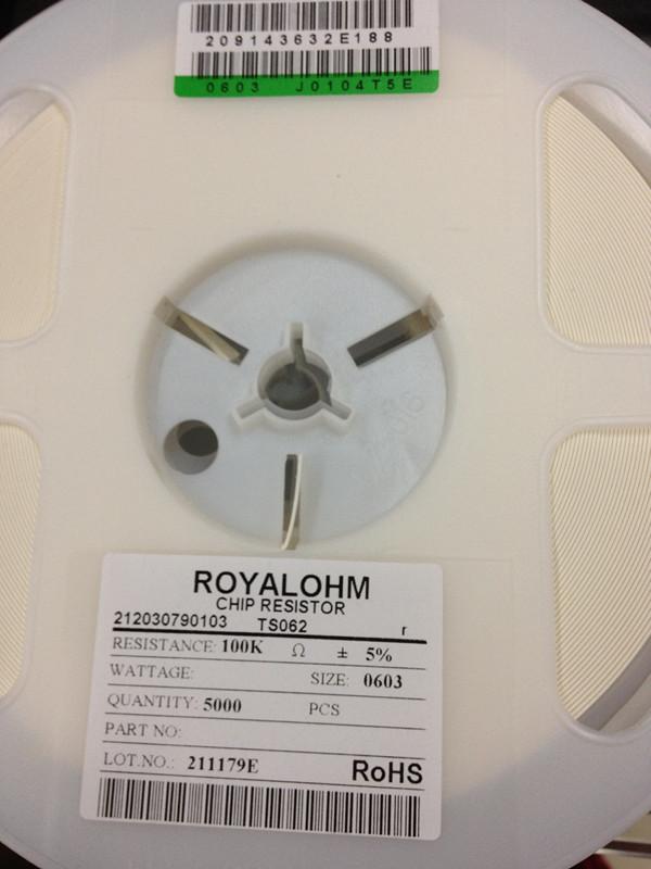 Резистор Uniroyal резистор 0603 100 k 5