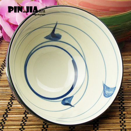 复古创意陶瓷碗 送筷子