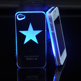 IPhone4 4S iPhone5 phone shell of mobile phone shell iPhone incoming call flash light-emitting stars