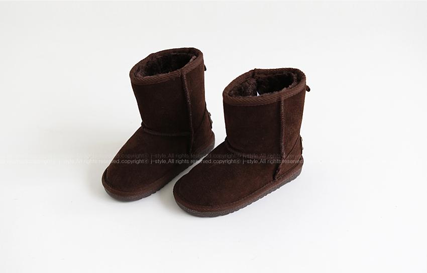 Детская кожаная обувь Момо иностранных девушек UGG хорошего качества толстой резиновой единственным снега сапоги тепло