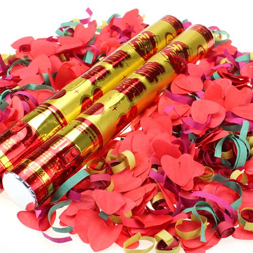 爱拉勾 婚庆用品 结婚庆典爱心彩带礼花 超方便按钮结婚礼炮40cm