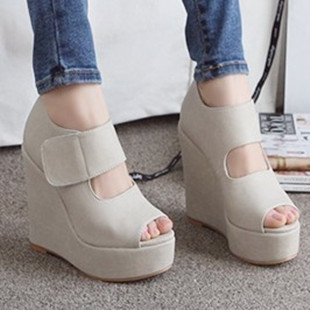 Fish head wedge heel shoes, women sandals Rome 2013 super high heels shoes waterproof heavy-bottomed muffin summer influx