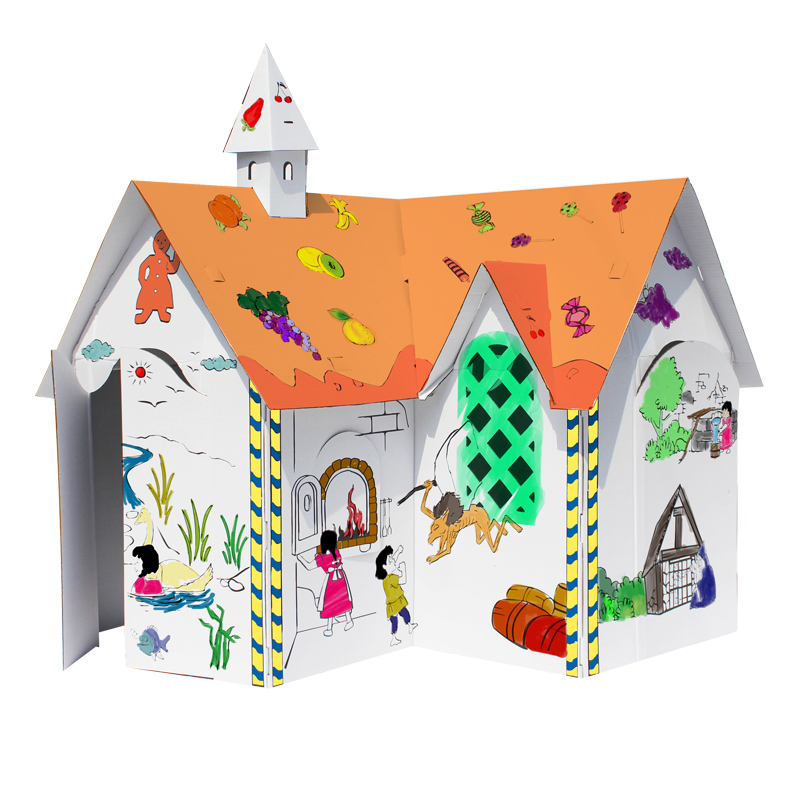 Объемные фигурки для раскраски Праздник веселья и творческие видео трафарет, живопись дети краски название бумага над 3 бай Mo заливки