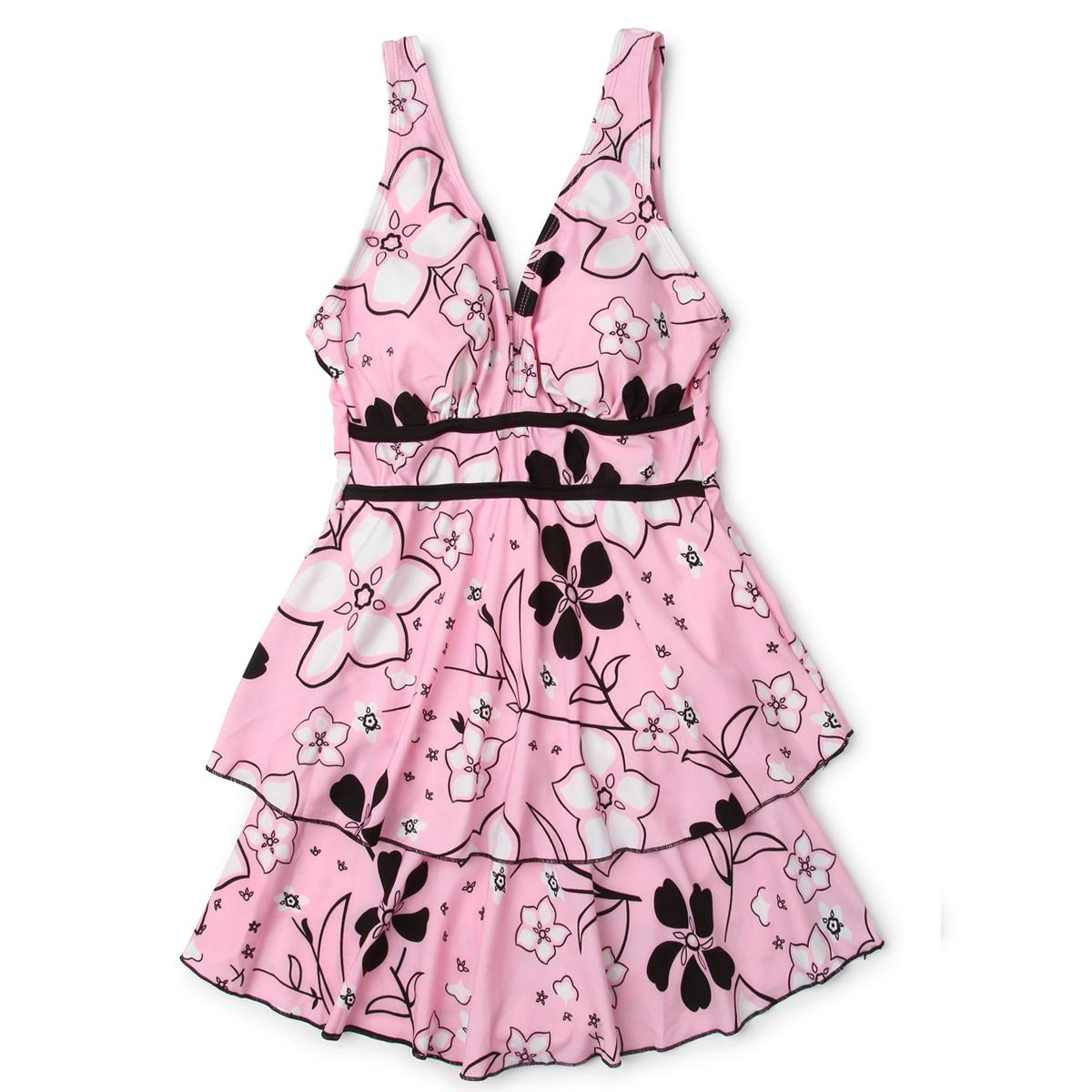 Цвет: Розовые цветы ] -2 / одежды