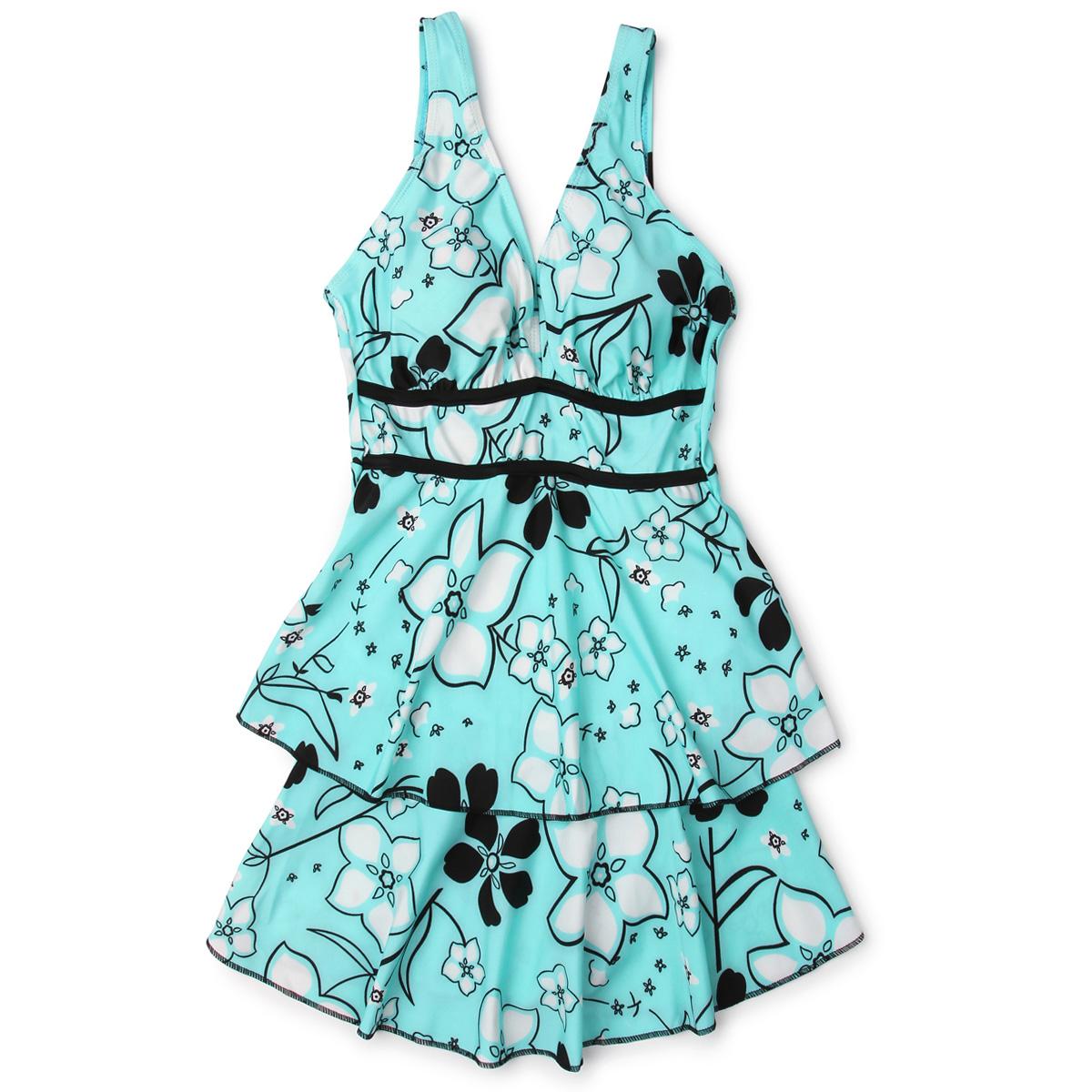 Цвет: Синие цветы ] -1 / одежды