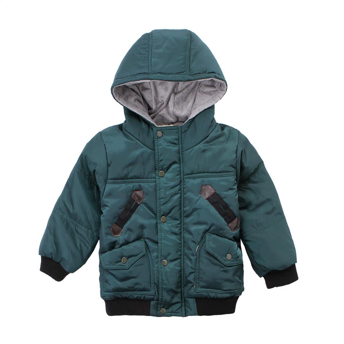 纳图木正品 2014冬装男童加绒加厚 棉服 冬童装男童棉服外套 绒布