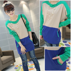 New fancy dress round neck long sleeve korean style slim female style dress