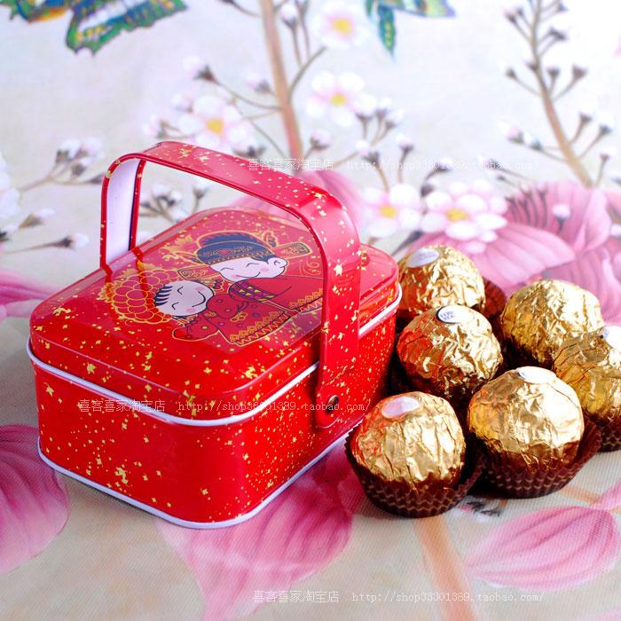 创意婚庆用品喜糖盒子喜蛋盒子巧克力盒子批发D523
