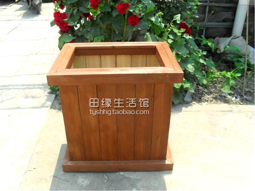 Кадка для цветов Антикоррозийные древесины ящик твердой древесины цветок коробки лечение древесины цветок горшки, квадратный бассейн пруд деревья большой цветок поле