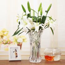 花瓶 客厅插花摆件水培富贵竹百合落地花瓶欧式大号玻璃透明花器