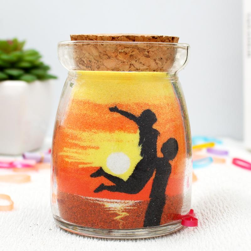 DIY浪漫沙画瓶