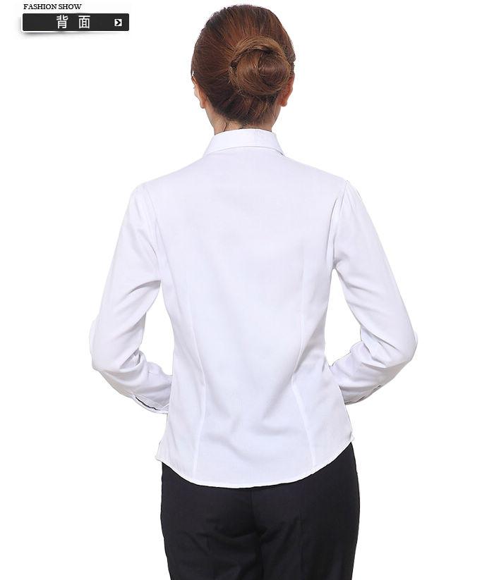 женская рубашка Worsley wear Повседневный Длинный рукав Однотонный цвет Пуговицы, Ласточкин хвост V-образный вырез Один ряд пуговиц