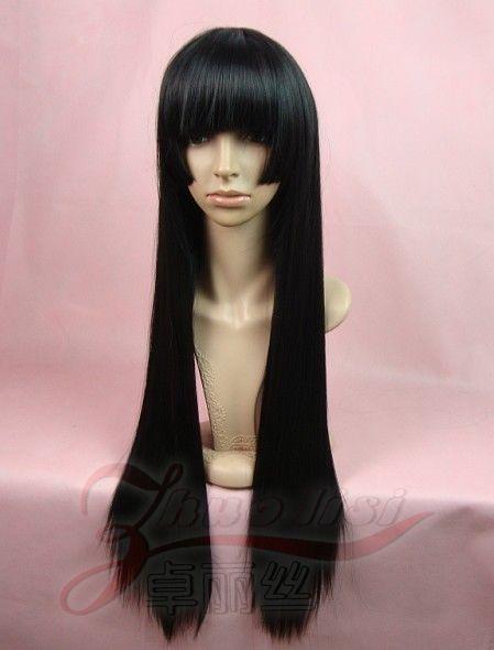 Аксессуары для косплея Косплей парики 80 см Янь моаи светлые тона умирают Кикио COS девушка напомнил Гора высокая температура провода парик