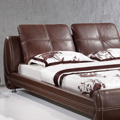 кожаная кровать Guangdong heat wheat brand furniture  8135