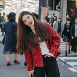 冬季美衣#C小小韩版短款红色呢外套 247元包邮(277-30券)