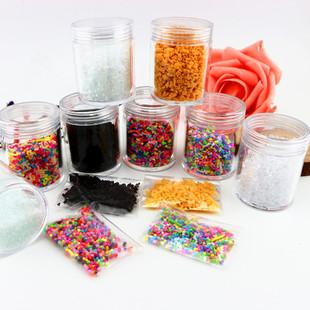 仿真冰块冰沙白砂糖超轻粘土奶油土软陶珍珠泥装饰配件10g每包