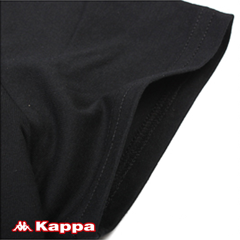 Спортивная футболка KAPPA k2102td452/990. K2102TD452-990 Стандартный О-вырез Короткие рукава ( ≧35cm ) CVC Для спорта и отдыха Влагопоглощающие, Воздухопроницаемые Логотип бренда
