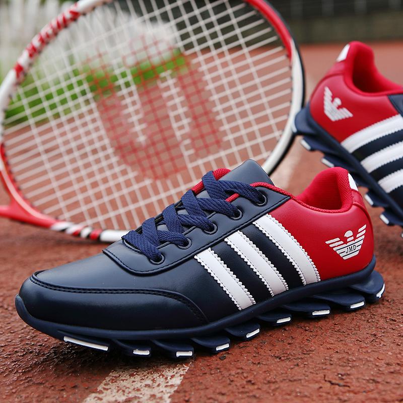男士皮面休闲鞋韩版耐磨运动鞋学生防滑板鞋百搭跑步鞋旅游鞋单鞋