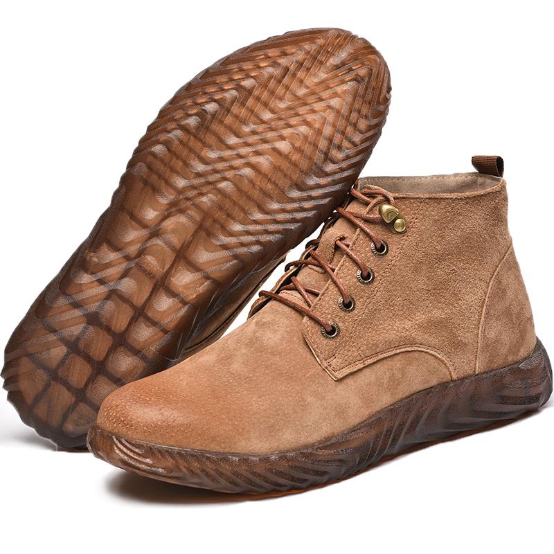 劳保鞋男士防砸防刺穿电焊工专用高帮超轻便防臭冬季工地工作棉鞋