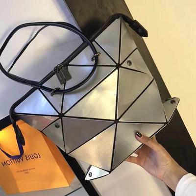 2018新款韩国东大门女包百变魔方托特包几何菱格变形包单肩手提包