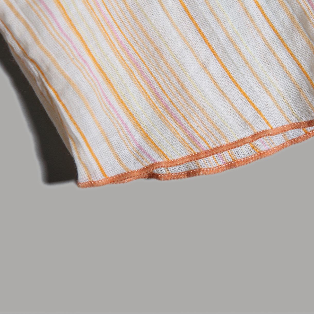 женская рубашка S.deer 8680401 Sdeer Оригинальный дизайн Короткий рукав В полоску Двухслойный воротник