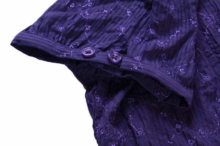 женская рубашка Outfit Городской стиль Короткий рукав Рисунок в цветочек V-образный вырез Один ряд пуговиц