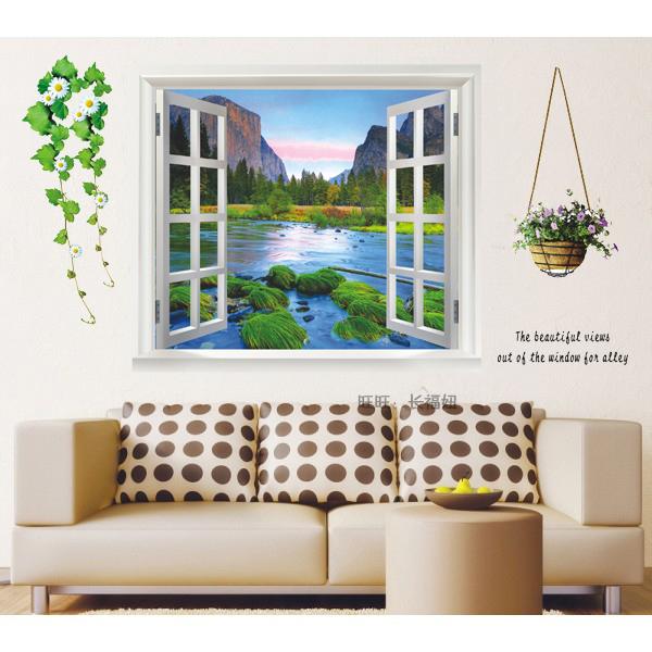Цвет: Пейзаж окна
