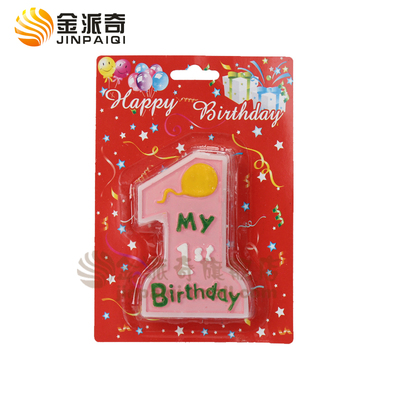 1 Year Old Baby Birthday Candles Cartoon Candle A Smoke Free Environment One Full Of Life Celebration Environmental