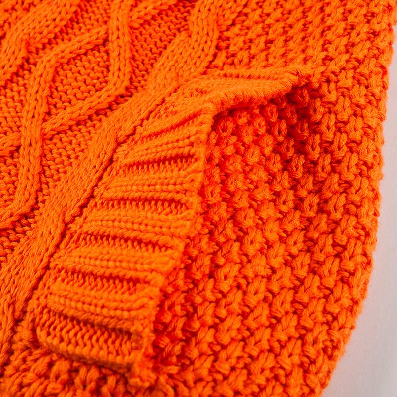 Свитер женский Othermix 12mm033004f Акриловое волокно Осень 2012 Длинный рукав Классический рукав Закругленный вырез