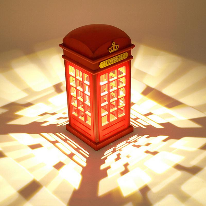 电话亭充电台灯