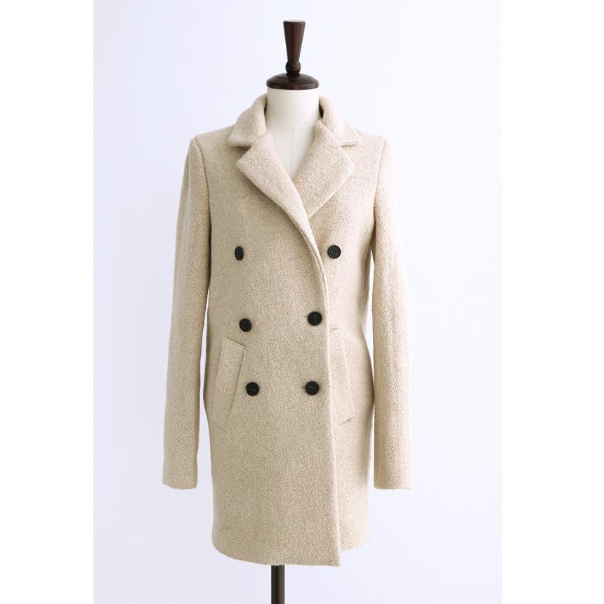 женское пальто Что. Корейский пользовательских Dongdaemun ретро белый лацкане воротник двубортные m твидовые пальто Обычная