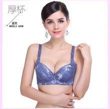 Gather Fragrant Neveu Lingerie Bra Adjustable Thick Little Sexy Deep V Cute Side Received the Vice-milk