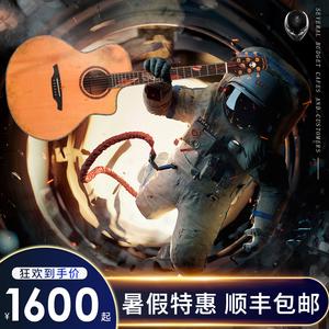 亚伯拉罕吉他星语心愿工业时代仲夏之夜深海奇缘41寸民谣吉他