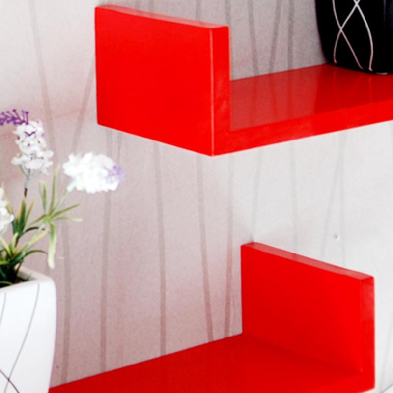 宜尚 创意隔板搁板置物架 墙上装饰架 宜家田园 电视墙壁