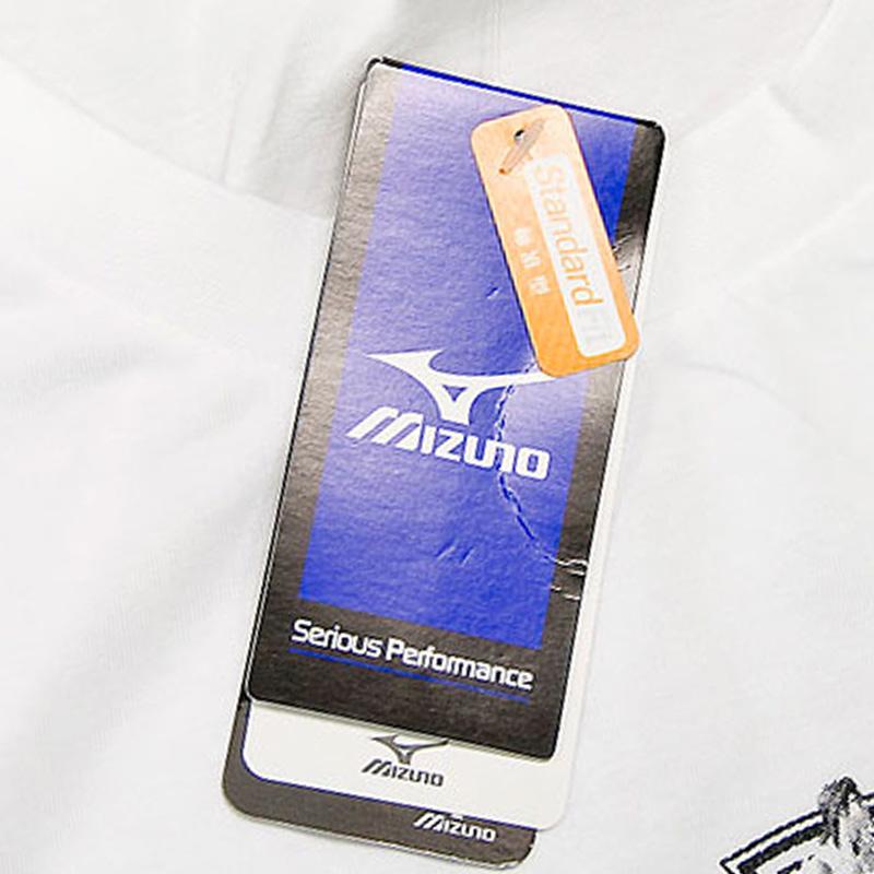 Спортивная футболка MIZUNO z65tf014/01 140 Свободный Воротник-стойка Спорт и отдых