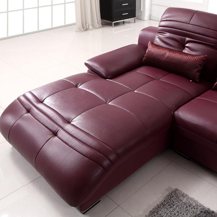 Кожаный диван Специальные предложения по электронной почте головы слой толщиной шарик в импортированных кожаные диваны кожа гостиной сочетание досуг диван 677 Стиль минимализм