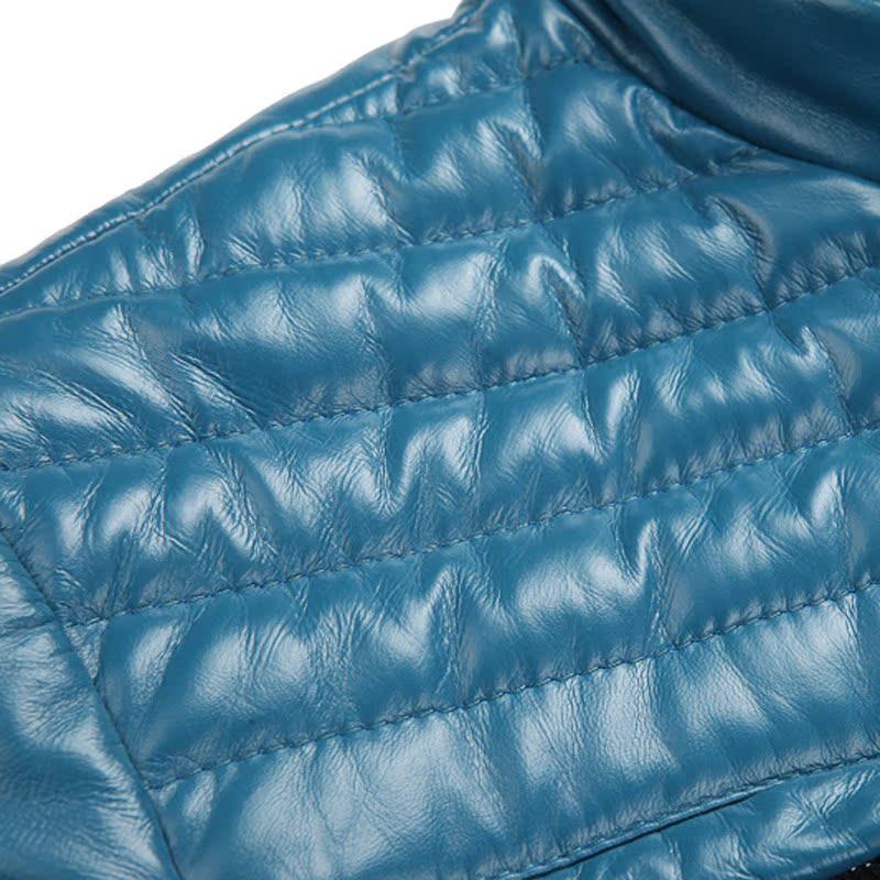 Одежда из кожи King/boys 1270 2012 Одежда из натуральной кожи Овечья кожа Зимняя Воротник-стойка Модная одежда для отдыха
