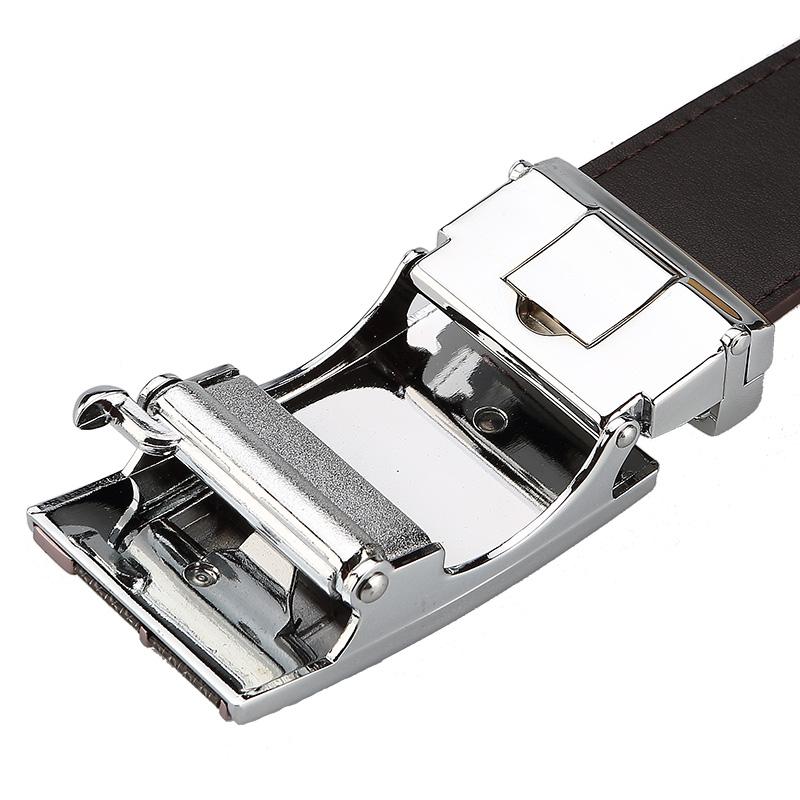Ремень YEARCON 33e504979 2013 Мужчины Кожа быка Повседневный стиль Автоматические пряжки Бесцветный