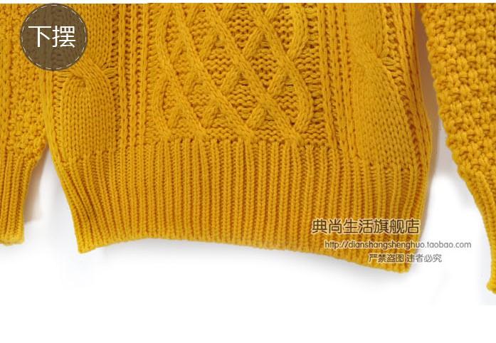 Свитер женский DIANSHANG life Vintage Другое Осень 2012 Длинный рукав Классический рукав Закругленный вырез