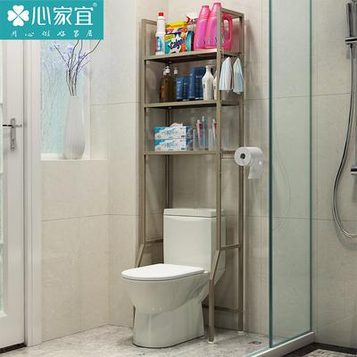 心家宜多层创意浴室卫生间马桶的收纳架马桶上架架落地防锈架包邮
